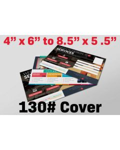 "Postcard - 4"" x 6"" to 8.5"" x 5.5"" - 130# Cover Stock"