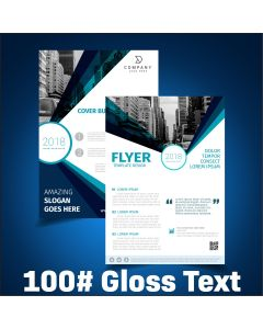 Flyers / Sell Sheets - 100# Gloss Text