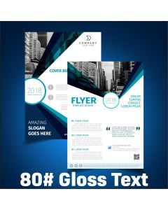 Flyers / Sell Sheets - 80# Gloss Text