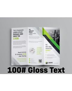 Brochure - Tri-Fold or Half-Fold - 100# Gloss Text