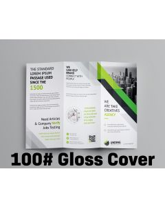 Brochure - Tri-Fold or Half-Fold - 100# Gloss Cover